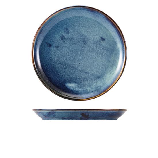 """Terra Porcelain Aqua Blue Coupe Plate 7.5"""" (19cm)"""