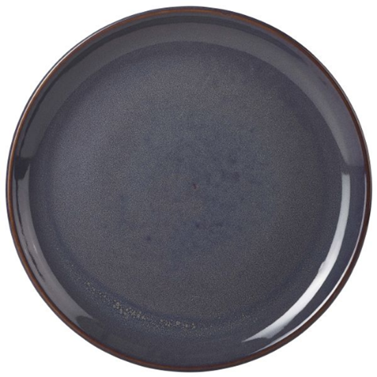 "Terra Stoneware Rustic Blue Coupe Plate 9.5"" (24cm)"