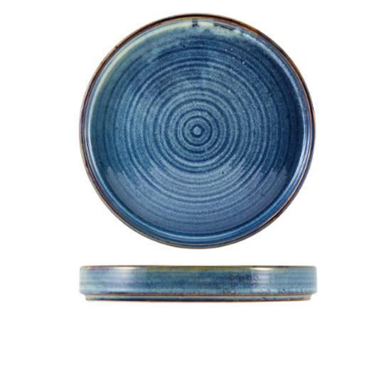 """Terra Porcelain Aqua Blue Presentation Plate 8.3"""" (21cm)"""