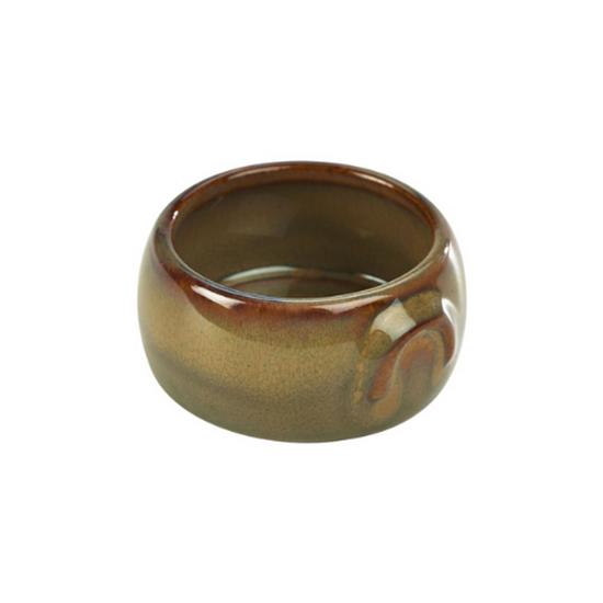 Terra Stoneware Rustic Brown Butter Pot 9cl (3oz)