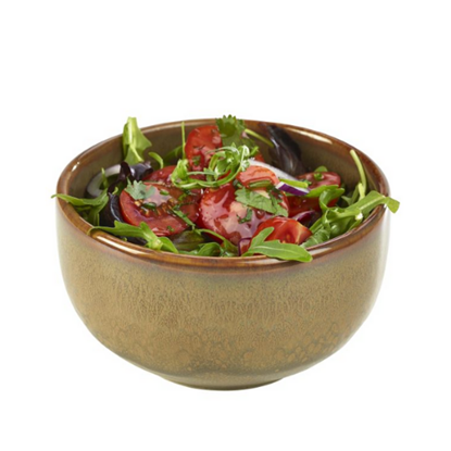Terra Stoneware Rustic Brown Round Bowl 50cl (17.5oz)