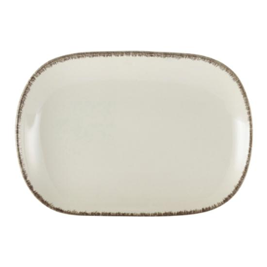 "Terra Stoneware Sereno Grey Rectangular Plate 9.5x6.5"" (24x16.5cm)"