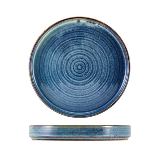 """Terra Porcelain Aqua Blue Presentation Plate 10.2"""" (26cm)"""