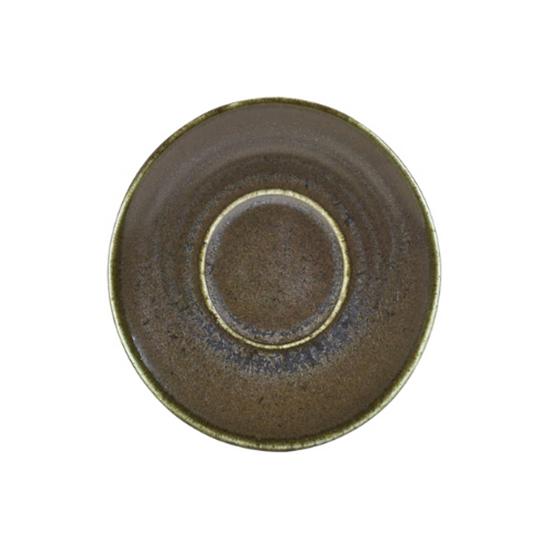 """Terra Porcelain Black Saucer 4.5"""" (11.5cm)"""