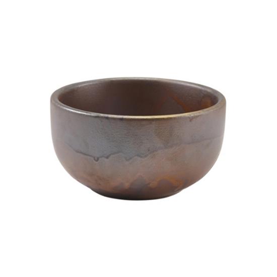 Terra Porcelain Rustic Copper Round Bowl 36cl (12.5oz)