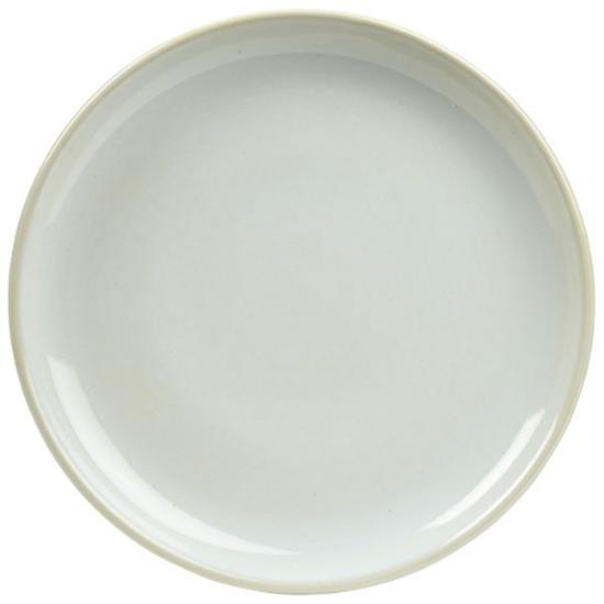 """Terra Stoneware Rustic White Coupe Plate 7.5"""" (19cm)"""