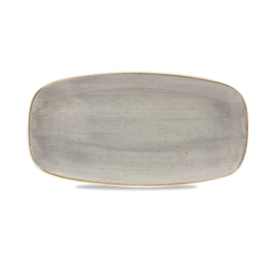 "Churchill Stonecast Peppercorn Grey Oblong Plate 10.6x5"" (26.9x12.7cm)"