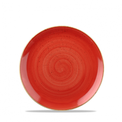 "Churchill Stonecast Berry Red Evolve Coupe Plate 6.5"" (16.5cm)"