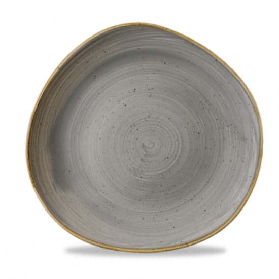 "Churchill Stonecast Grey Organic Round Plate 11.3"" (28.6cm)"