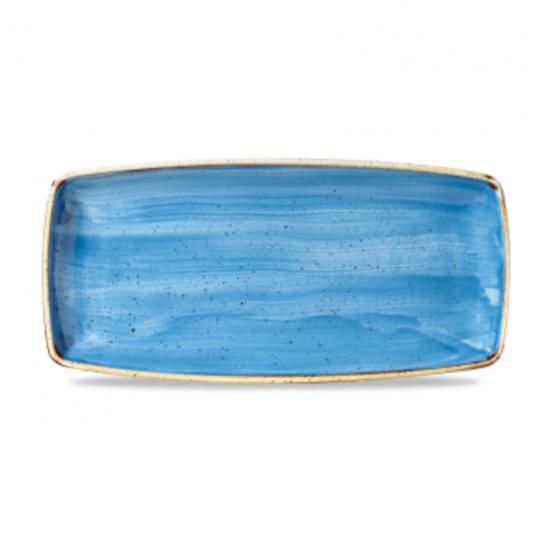 "Churchill Stonecast Cornflower Blue Oblong Plate 11.6x5.5"" (29.5x14cm)"