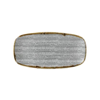 "Churchill Studio Prints Grey Rectangle Platter 11.7x6"" (29.8x15.3cm)"