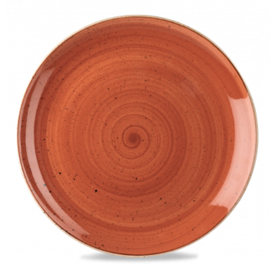"Churchill Stonecast Spiced Orange Coupe Plate 12.8"" (32.4cm)"