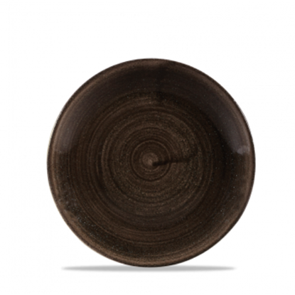 "Churchill Stonecast Patina Iron Black Coupe Plate 6.5"" (16.5cm)"