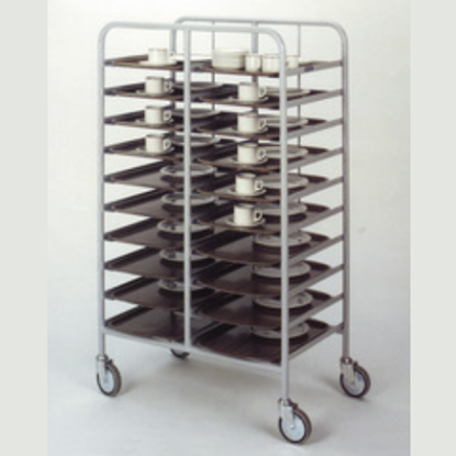 12 Tray Stainless Steel Clearing Trolley