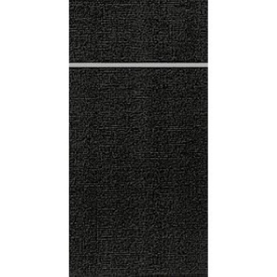 "Black Duniletto Napkins 15.7x13"" (40x33cm)"