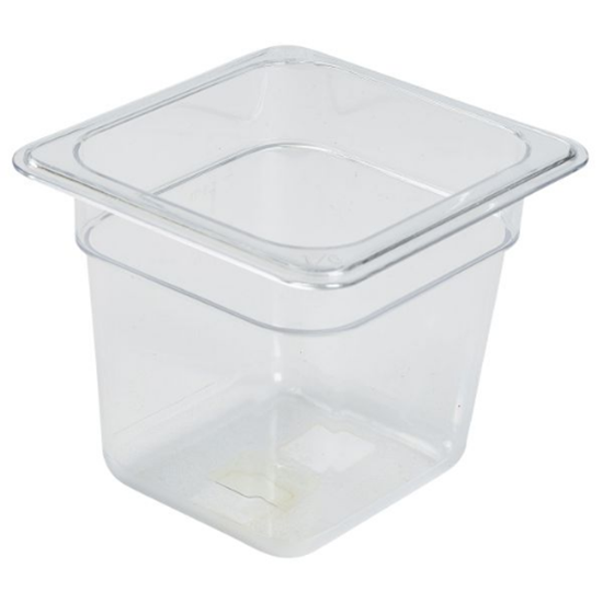 Clear Gastronorm Food Pan 1/6