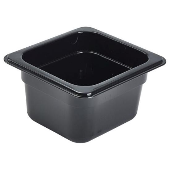 Black Polycarb Food Pan 1/6x6.5cm