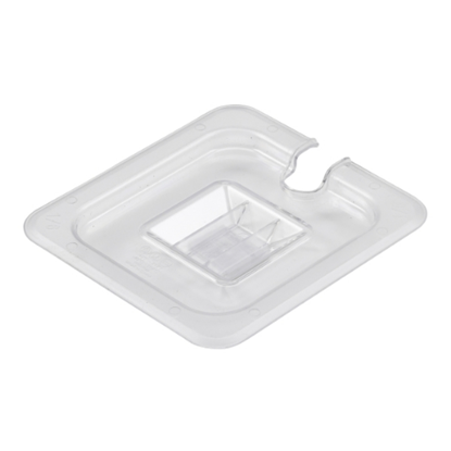 Clear Gastronorm Notched Lid With Handle 1/6
