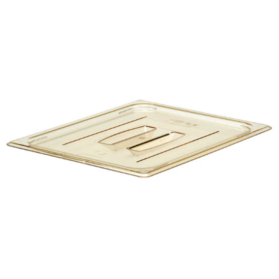 High Heat Notched Cover Lid With Handle 1/2