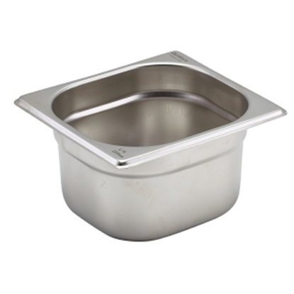 CaterPro Stainless Steel Gastronorm 1/6 (100mm Deep)