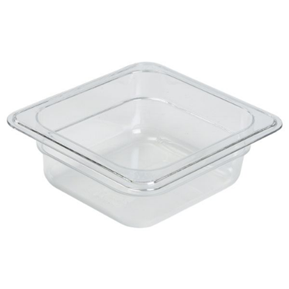 Clear Food Storage Container 1/6 (65mm Deep)