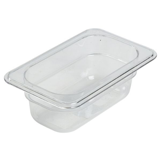 Clear Food Storage Container 1/9 (65mm Deep)