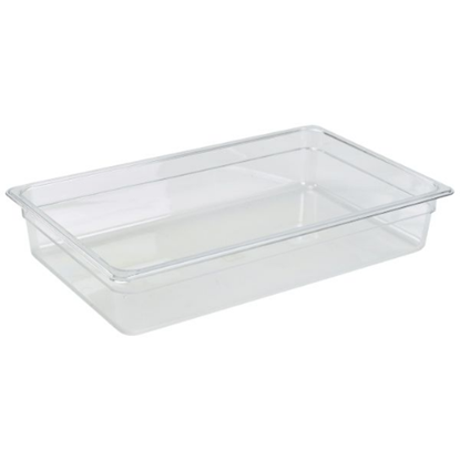 Clear Gastronorm Food Pan 1/1 (100mm Deep)