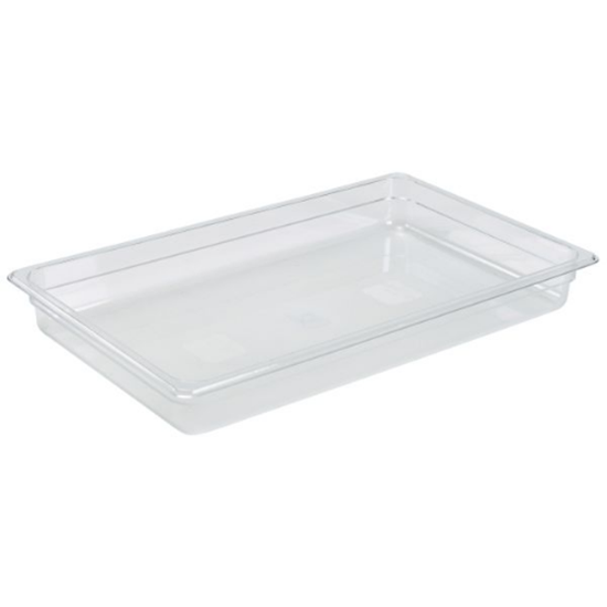 Clear Gastronorm Food Pan 1/1 (65mm Deep)