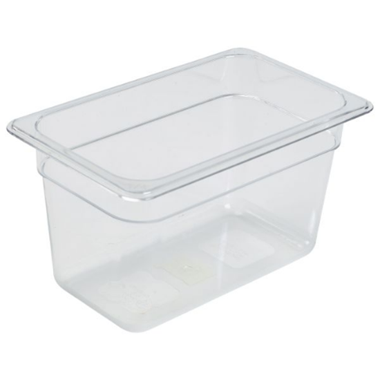 Clear Gastronorm Food Pan 1/4 (150mm Deep)