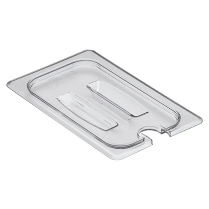 Clear Gastronorm Notched Lid With Handle 1/4