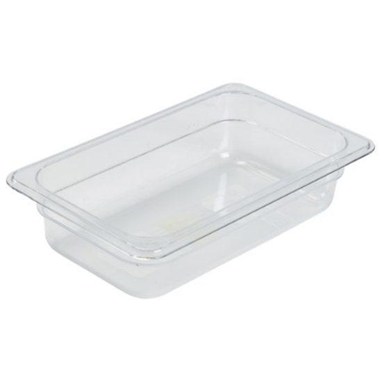 Clear Gastronorm Pan 1/4 (100mm Deep)