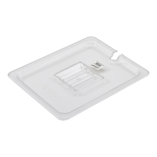 Clear Notched Gastronorm Lid 1/2 Cover With Handle