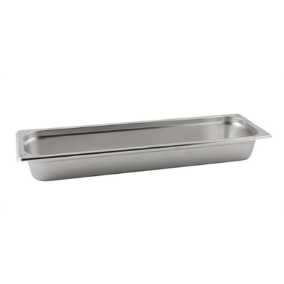 Stainless Steel Gastronorm 2/4 (65mm Deep)