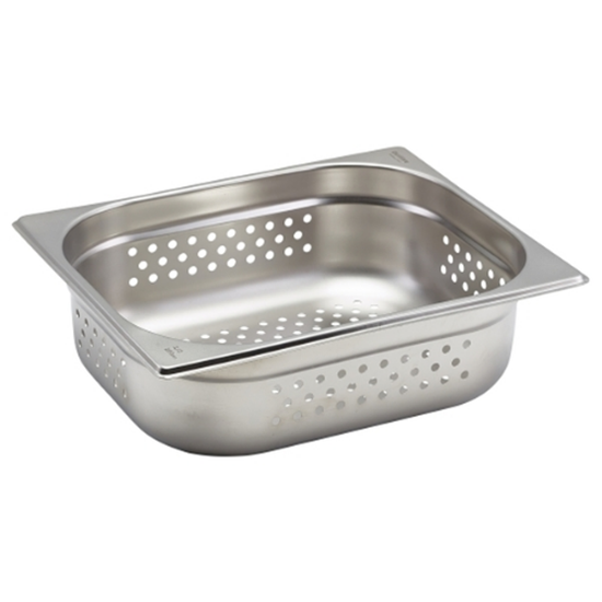 Stainless Steel Perforated Gastronorm 1/2 (100mm Deep)
