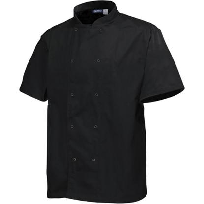 Black Short Sleeve Chef Jacket (L)