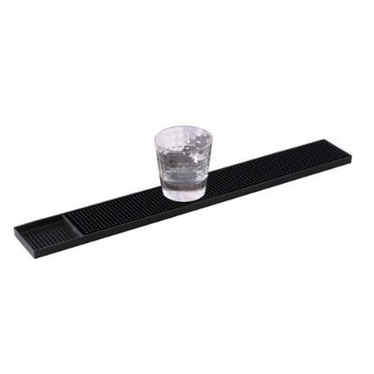 "Black Strip Bar Mat 24x3"" (61x7.6cm)"