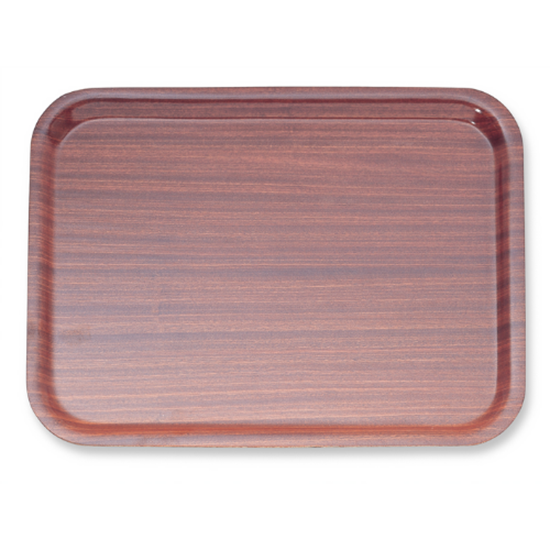 """Brown Wooden Tray 17.9x14"""" (45.5x35.5cm)"""