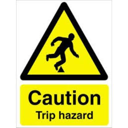 """Caution Trip Hazard Sign 7.9x6"""" (20x15cm)"""