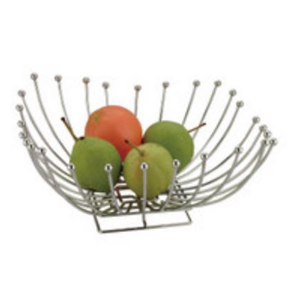 Chrome Square Fruit Bowl