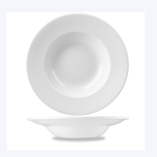 "Churchill Bamboo White Wide Rim Bowl Large 11"" (27.94cm)"