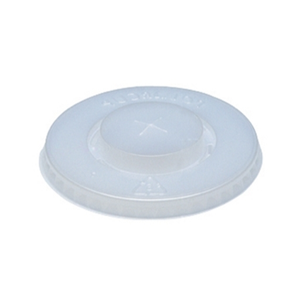 """Clear Flat Lid With Straw Slot 3.8"""" (9.6cm)"""