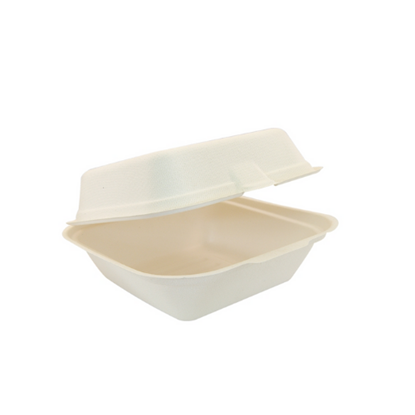 "Compostable Burger Box 6"" (15.2cm)"