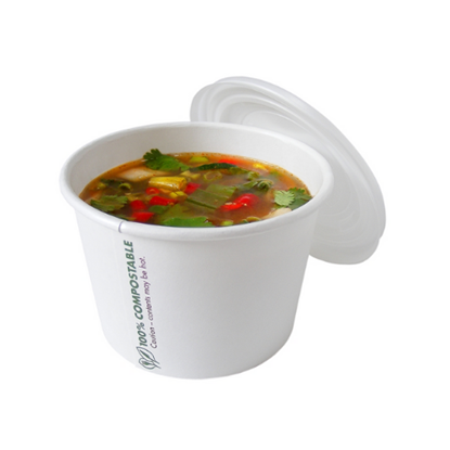 Compostable Container Lid For 8oz
