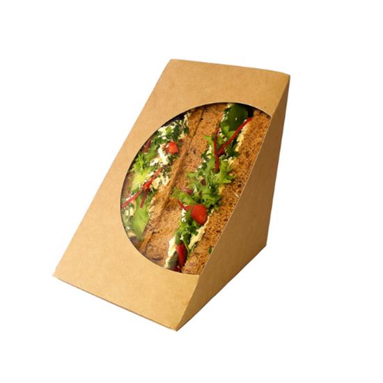 Compostable Double Sandwich Wedge