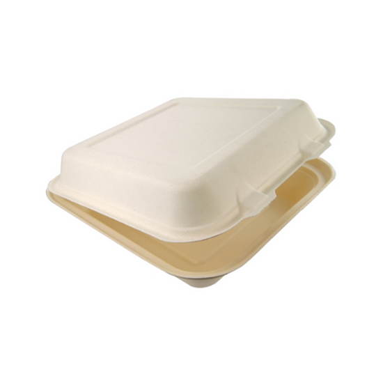 """Compostable Square Lunchbox 8"""" (20.3cm)"""