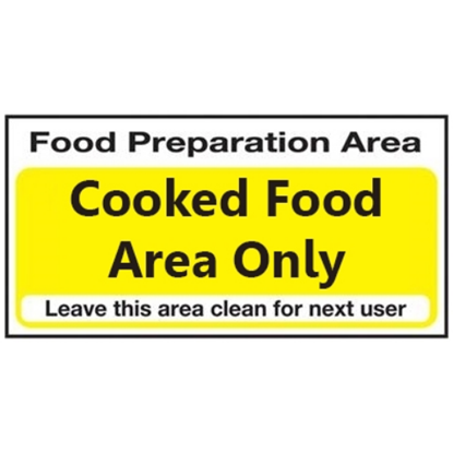 """Cooked Food Area Only 4x8"""" (10x20cm)"""
