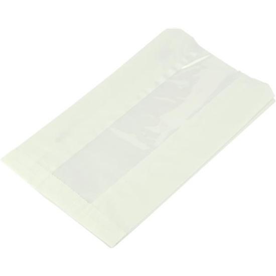 "Compostable White Glassine Hot Bag 6x8.5x10"""