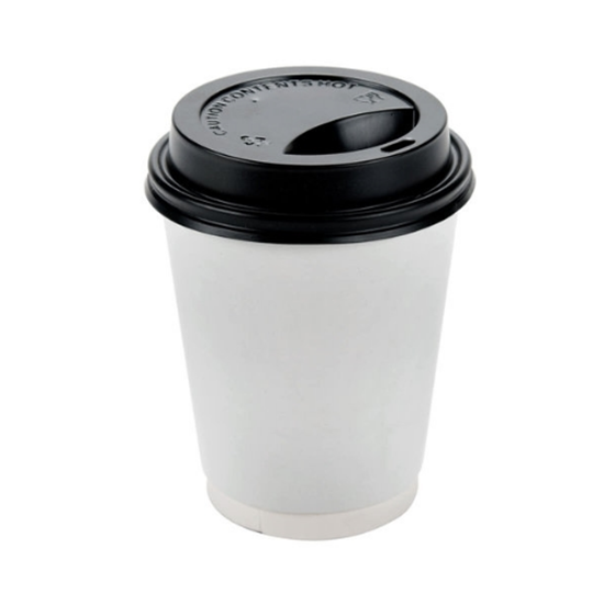 Black Lid For Double Wall Cup 10oz