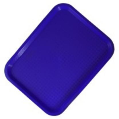 """Blue Fast Food Tray 18x14"""" (45.5x35.5cm)"""