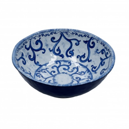 "Blue Melamine Salad Bowl 11"" (28cm)"